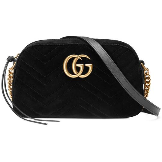 GUCCI VELVET MINI MARMONT BAG