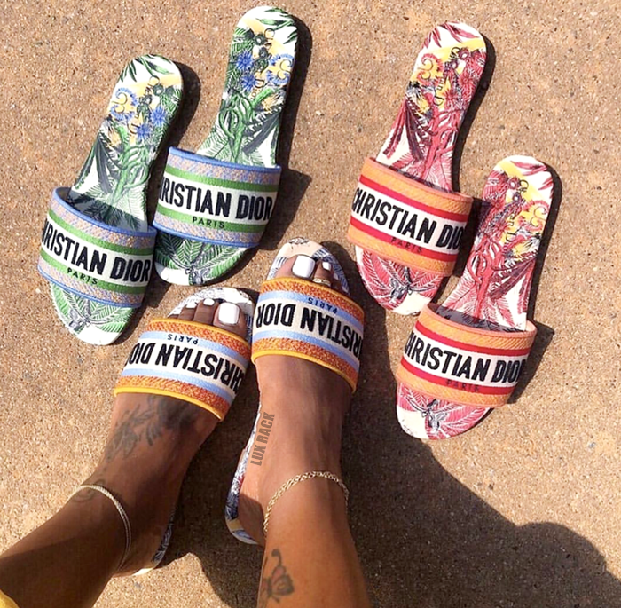 DIOR MULTICOLOR SLIDES - (STYLES AVAILABLE)