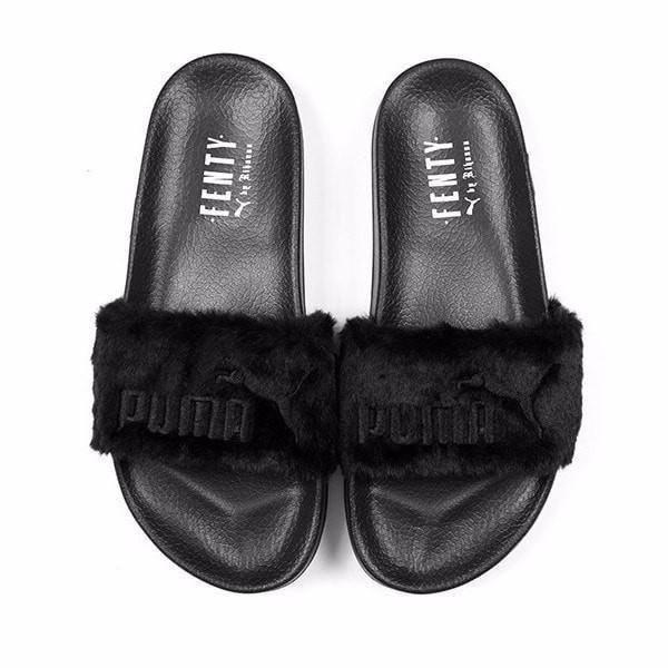puma sandals fur black Limit discounts