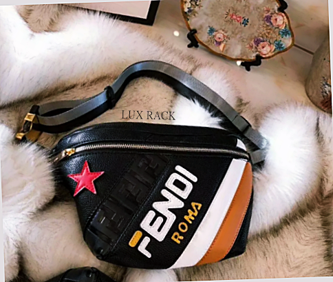 FENDI MANIA FANNY BELT BAG BLACK