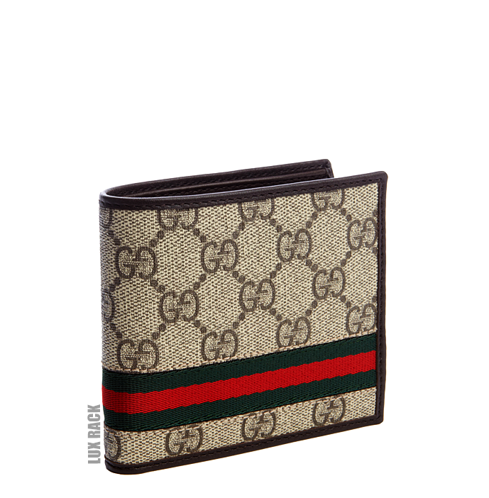 CLEARANCE - GUCCI STRIPE WALLET / CANVAS
