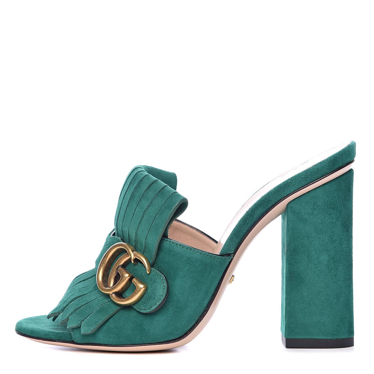 GUCCI FRINGED SUEDE SLIDE HEELS - (Colors Available)