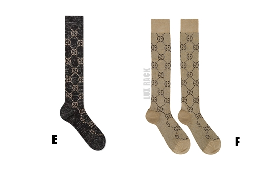 GUCCI TALL LUREX SOCKS - Styles Available