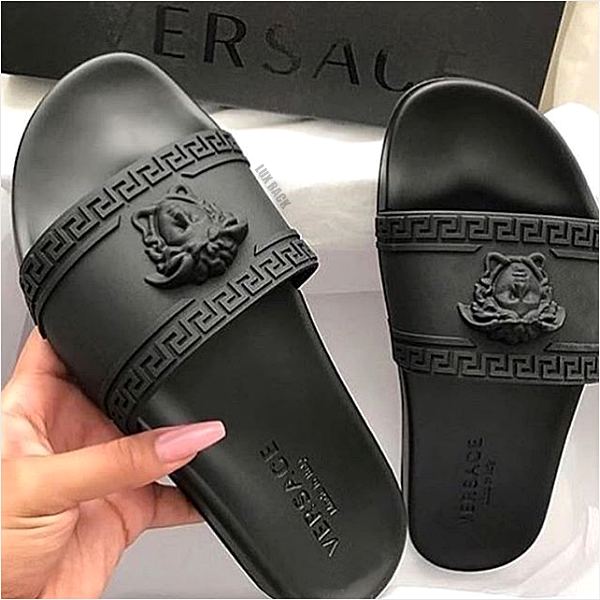 CLEARANCE - VERSACE SLIDES / BLACK