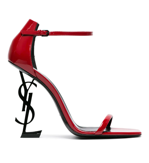 CLEARANCE - YSL LETTER HEELS / RED