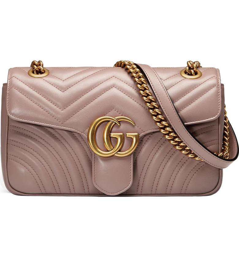 GUCCI MARMONT LEATHER QUILTED BAG - COLORS AVAILABLE