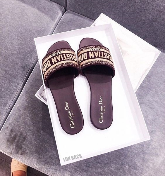 DIOR DWAY CANVAS SLIDES MULE - Colors Available