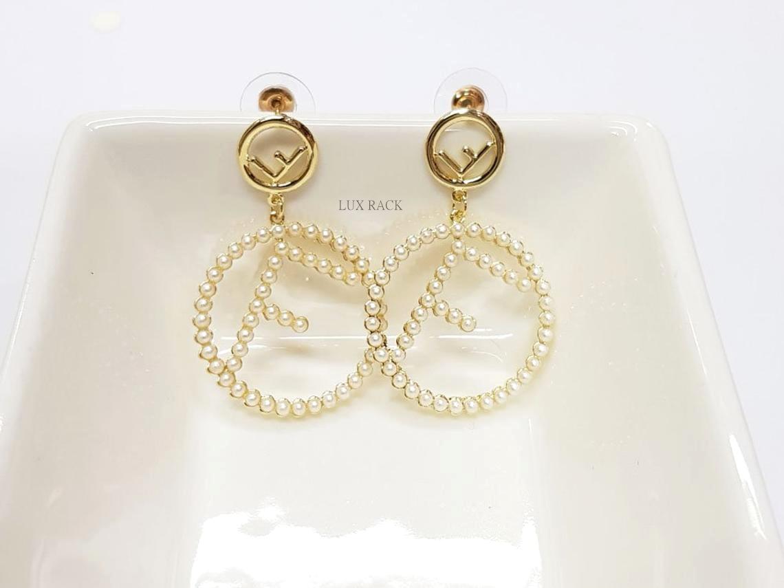 Fendi Pearl Drop Earring