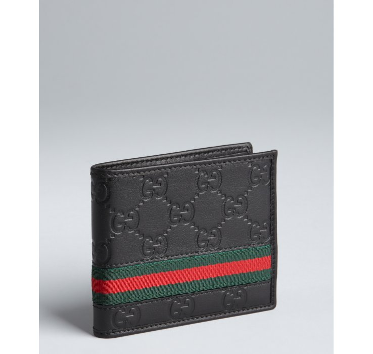 GUCCI FOLD STRIPE WALLET