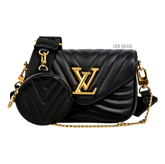 LV NEW WAVE MULTI SMOOTH LEATHER POCHETTE CROSSBODY HANDBAG
