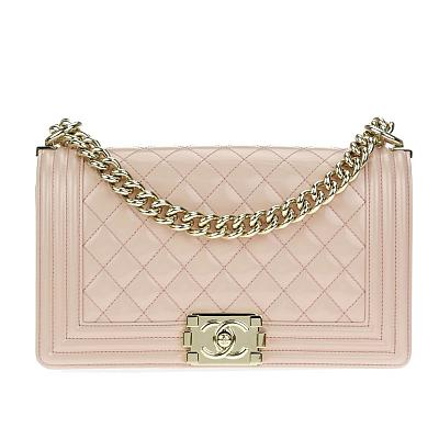 ASSORTED CHANEL BOY BAG - GOLD CHAIN