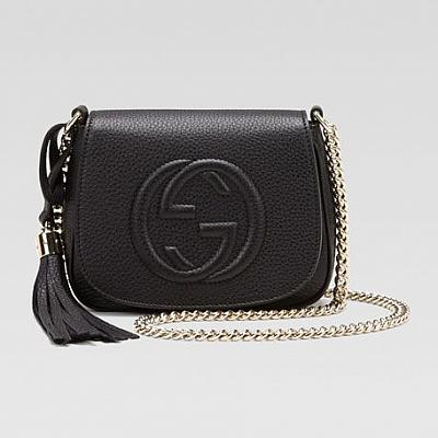 GUCCI MINI FLAP CROSSBODY HANDBAG
