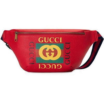 GUCCI RED FANNY PACK / BELT BAG