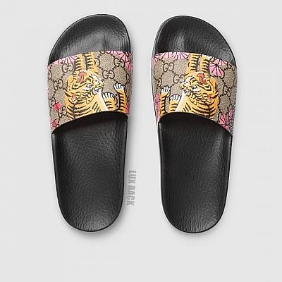 CLEARANCE - GUCCI BLOOM SLIDES / PINK TIGER