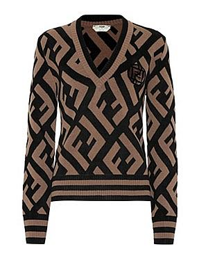 FENDI V NECK SWEATER