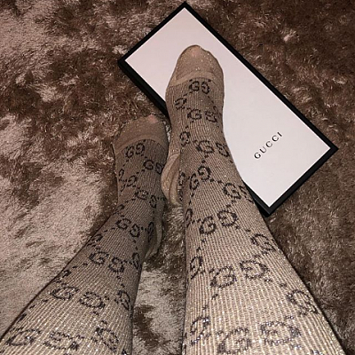 GUCCI TALL LUREX SOCKS