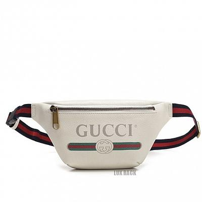 CLEARANCE - GUCCI FANNY PLAIN / WHITE