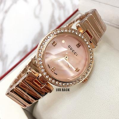GUCCI DIAMOND BEZEL WATCH