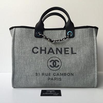 CHANEL DENIM TOTE HANDBAG