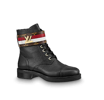 LV WONDERLAND RED/WHITE STRIPE BOOT