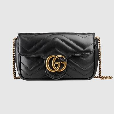 GUCCI MINI LEATHER MARMONT HANDBAG