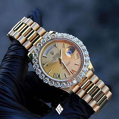 ROL DIAMOND BEZEL WATCH - Styles Available