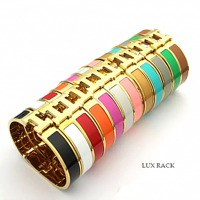 HERMES GOLD H BRACELET CLIC - Colors Available