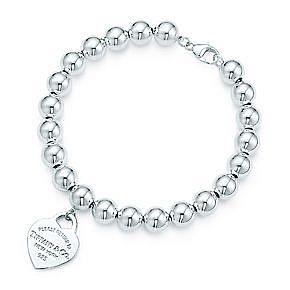 TIFFANY HEART CHARM BEAD BRACELET