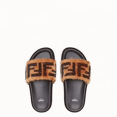 FENDI FUR SLIDES