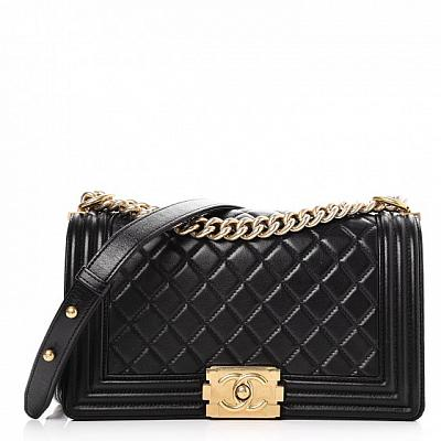 CHANEL BOY BAG GOLD CHAIN -  Colors Available