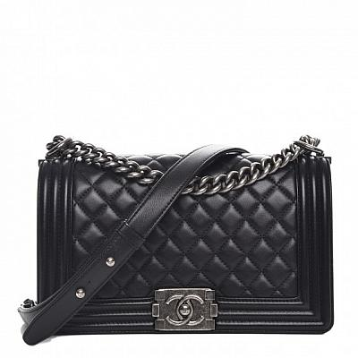 CHANEL BOY BAG - SILVER CHAIN (COLORS AVAILABLE)