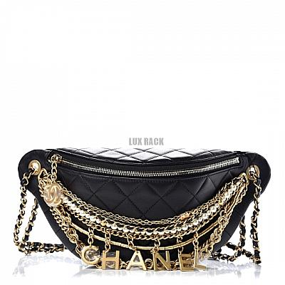 CHANEL ALL ABOUT CHAINS WAIST BAG FANNY