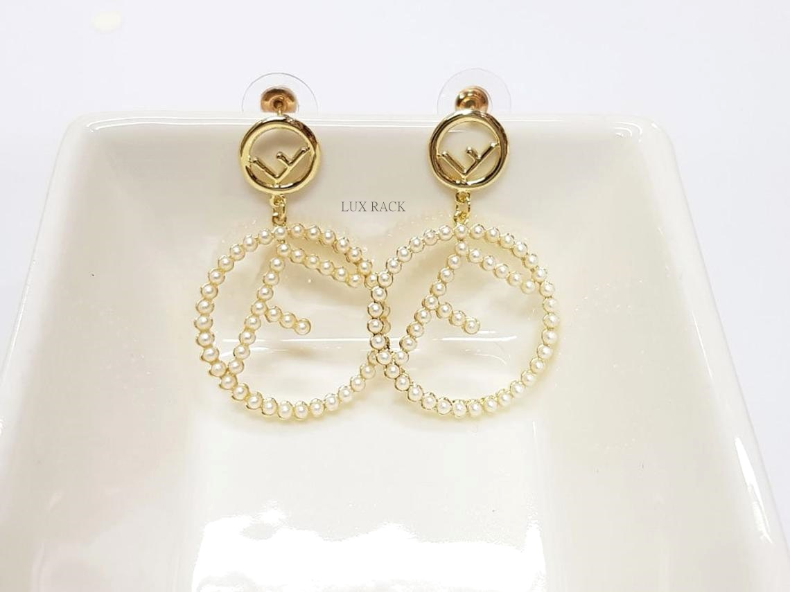 FENDI PEARL DROP EARRING