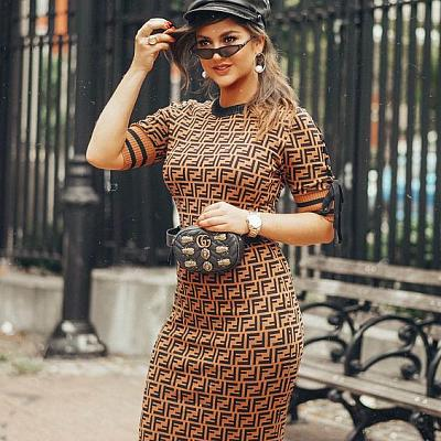 FENDI TIE SLEEVE DRESS