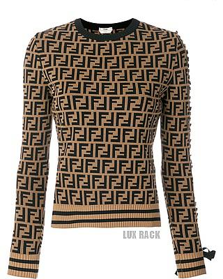 FENDI TIE SLEEVE SWEATER