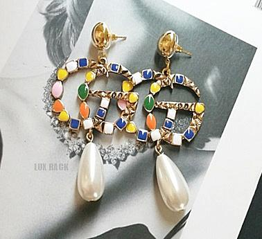 GUCCI STYLE STONE EARRINGS
