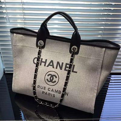 CHANEL DENIM TOTE HANDBAG 54594fd6a4b76