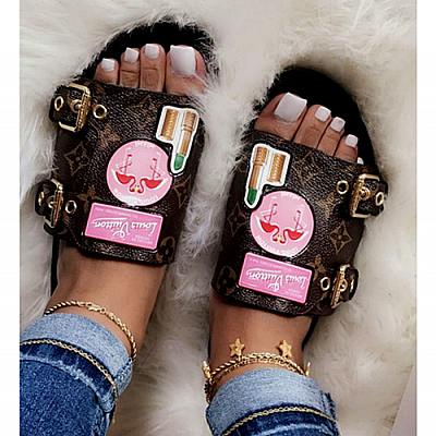 LV LOUIS VUITTON MULE SLIDES