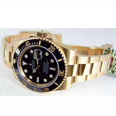 ROL BLACK AND GOLD LUXURY WATCH