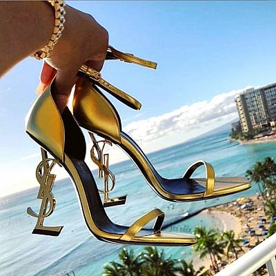 LIMITED EDITION YSL GOLD OPYUM HEELS